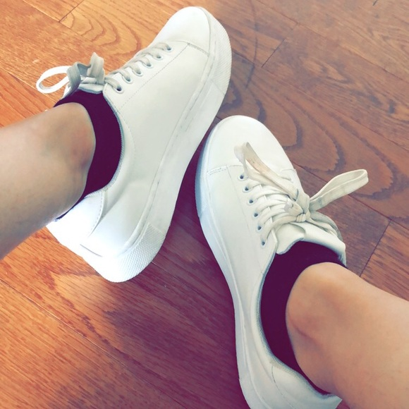 comfy white sneakers